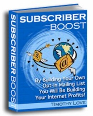 Product picture Subscriber Boost How to Build Your Own Opt-in List